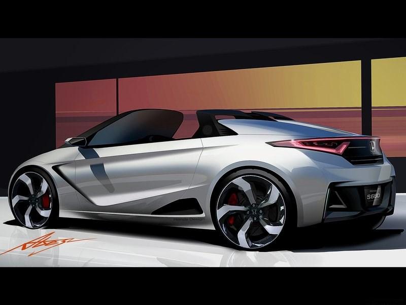 Honda S660 концепт 2014 эскиз 2