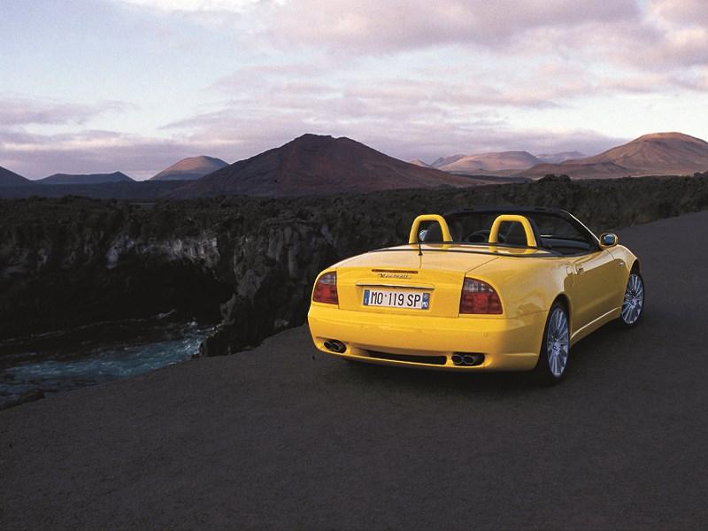 Maserati Spyder на фоне горных вершин