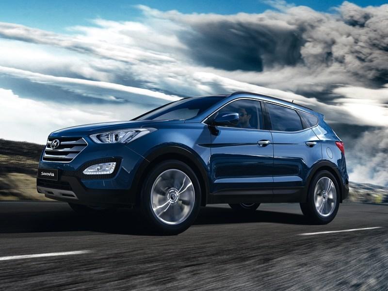 Hyundai Santa Fe 2012 вид сбоку