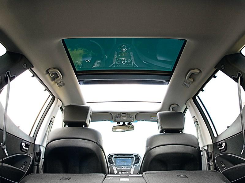 Hyundai Santa Fe 2012 панорамная крыша