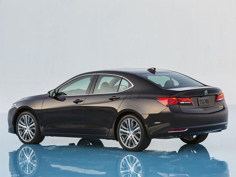 Acura TLX 2015 вид сбоку сзади