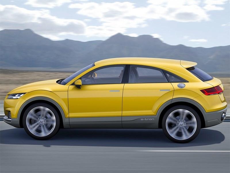 Audi TT Offroad Concept 2014 вид сбоку
