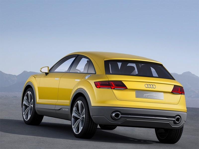 Audi TT Offroad Concept 2014 вид сзади