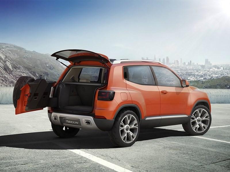 Volkswagen Taigun concept 2014 вид сбоку сзади