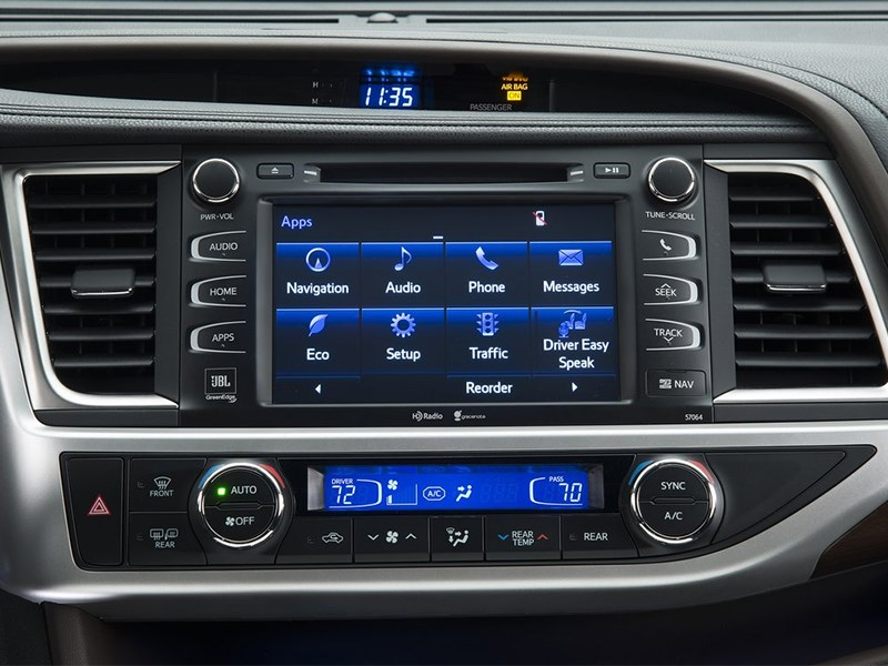 Toyota Highlander 2013 центральная консоль