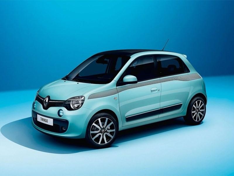 Renault Twingo 2014 вид спереди голубой