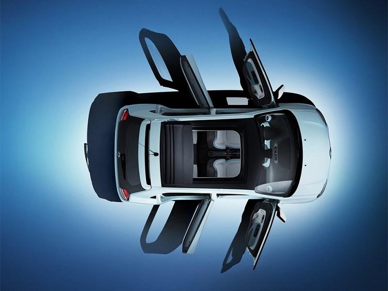 Renault Twingo 2014 вид сверху