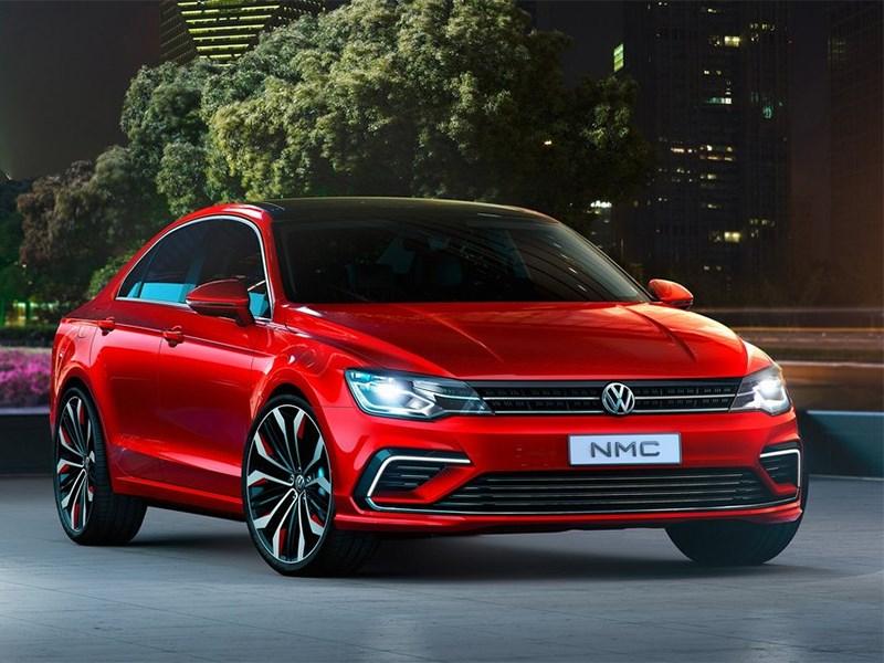 Новый Volkswagen NMC - Volkswagen NMC Concept 2014 вид спереди