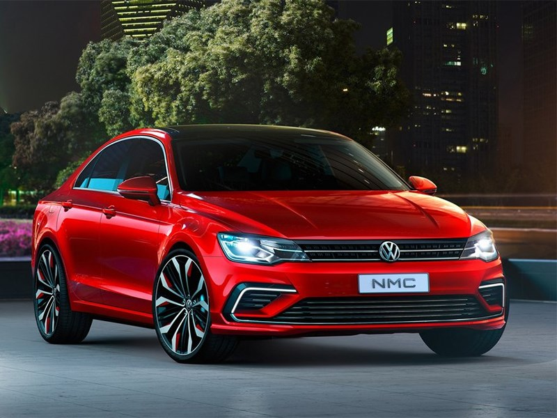 Volkswagen NMC Concept 2014 вид спереди