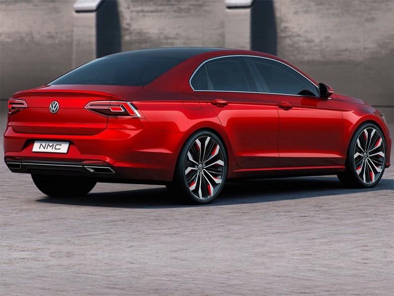 Volkswagen NMC Concept 2014 вид сзади сбоку