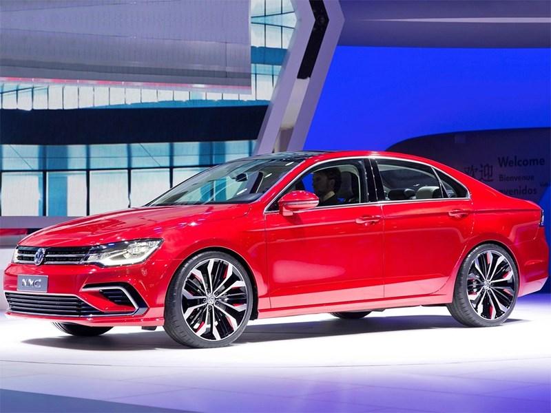 Volkswagen NMC Concept 2014 вид спереди сбоку фото 2