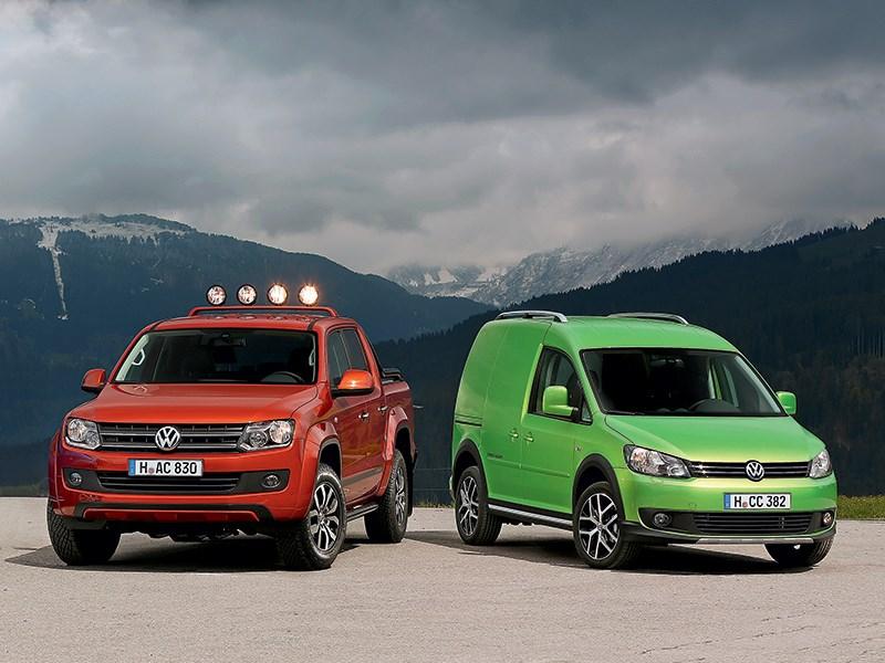 Volkswagen Caddy, Volkswagen Amarok - volkswagen amarok canyon и cross caddy 2010