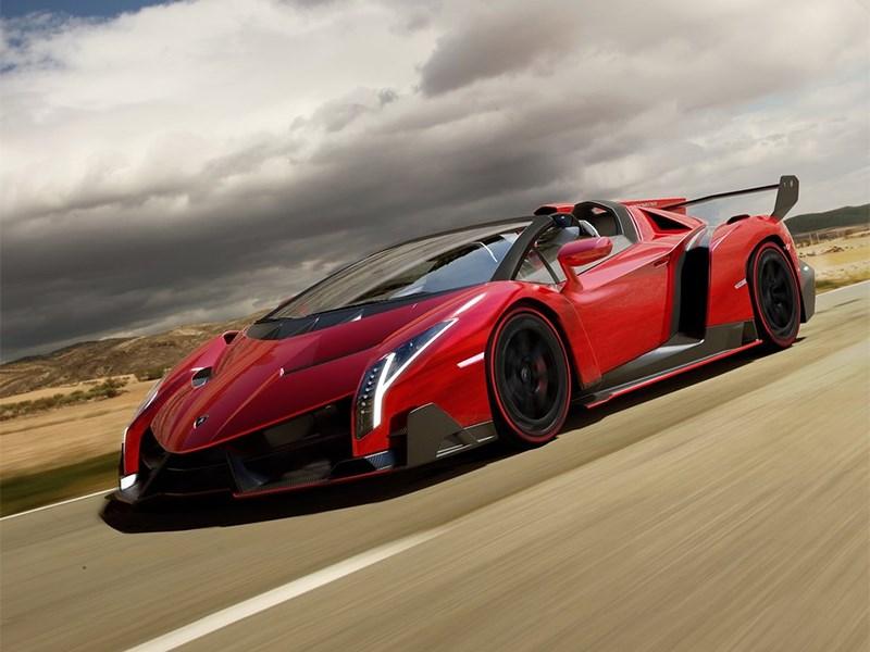 Lamborghini Veneno Roadster 2014 вид спереди