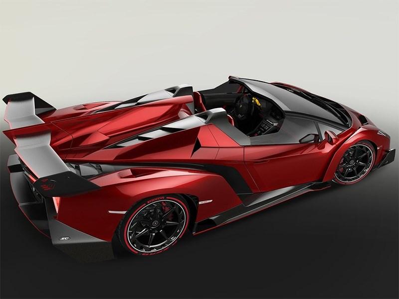 Lamborghini Veneno Roadster 2014 вид сбоку сверху