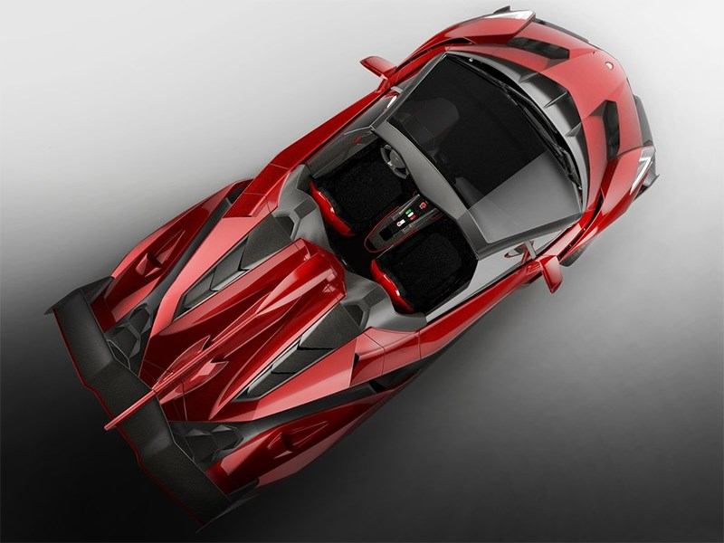 Lamborghini Veneno Roadster 2014 вид сверху