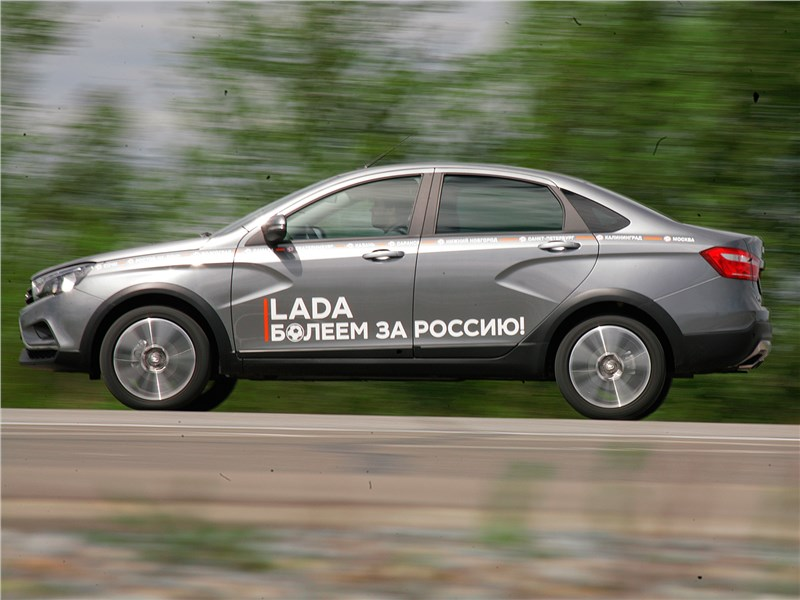 Lada Vesta Cross 2018 вид сбоку