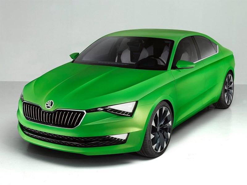 Skoda Vision C Concept 2014 вид спереди фото 4