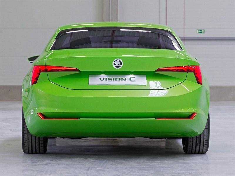 Skoda Vision C Concept 2014 вид сзади