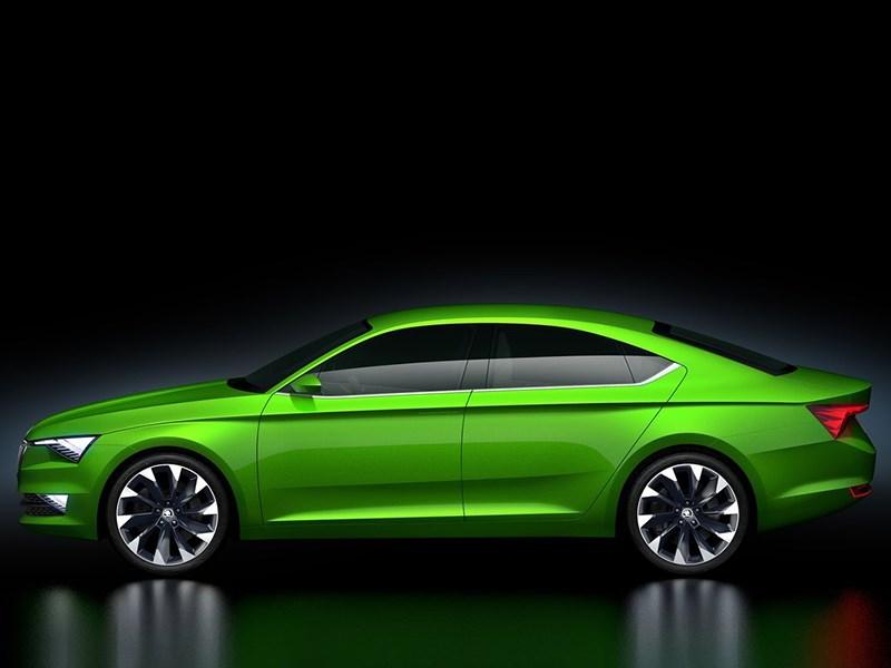 Skoda Vision C Concept 2014 вид сбоку фото 2
