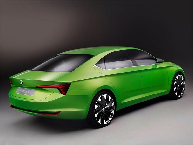 Skoda Vision C Concept 2014 вид сзади сбоку фото 2