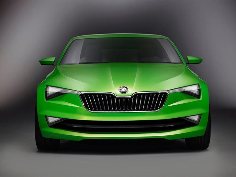Skoda Vision C Concept 2014 вид спереди фото 5