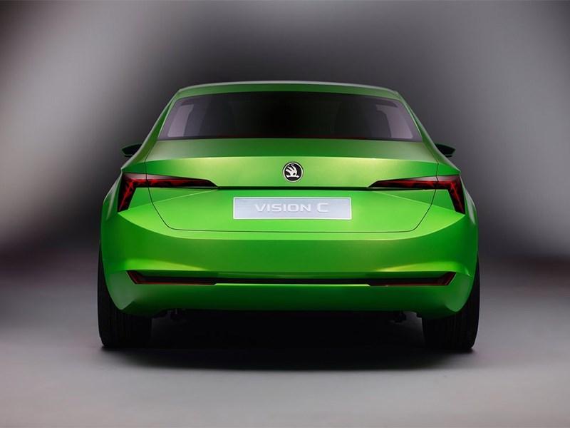 Skoda Vision C Concept 2014 вид сзади фото 2