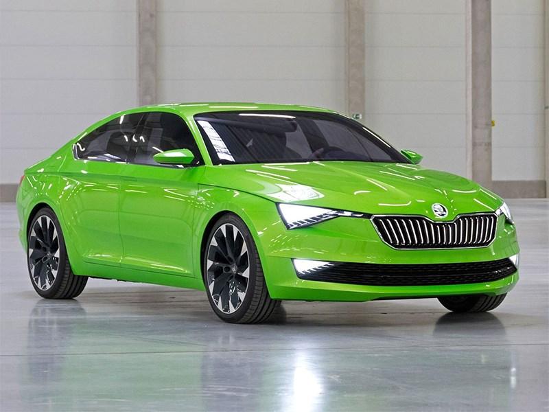 Skoda Vision C Concept 2014 вид спереди фото 2