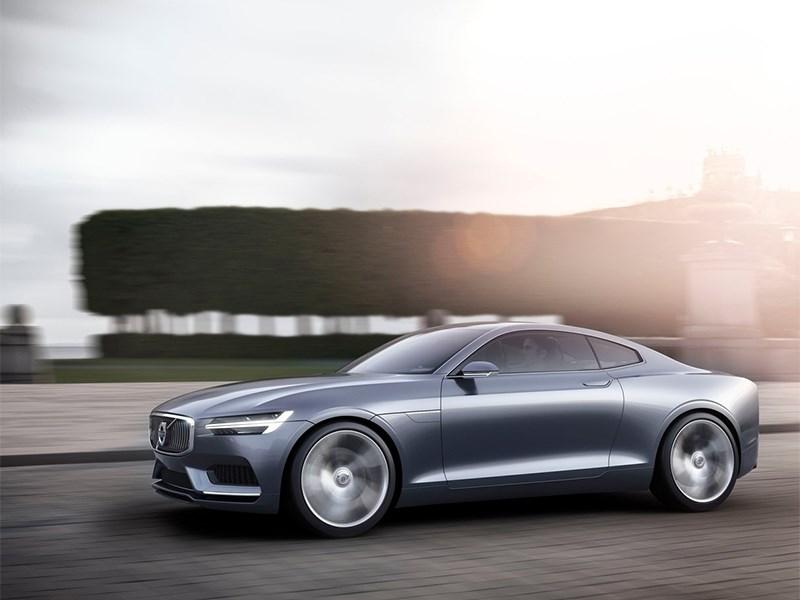 Volvo Coupe концепт 2013 вид сбоку 3/4