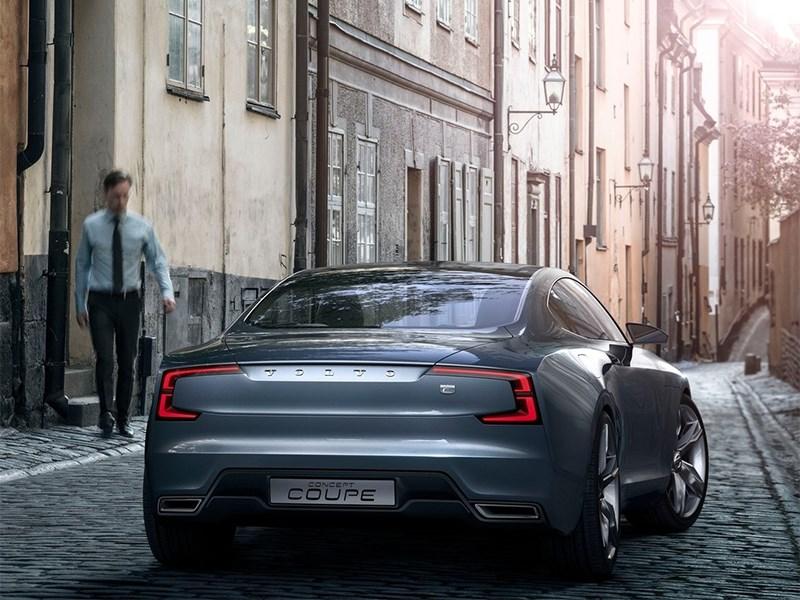 Volvo Coupe концепт 2013 вид сзади