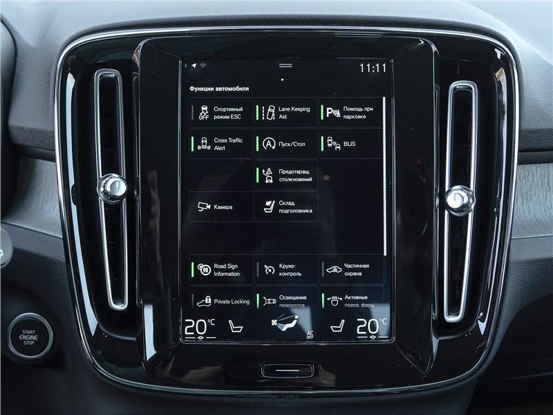 Volvo XC40 2018 центральная консоль