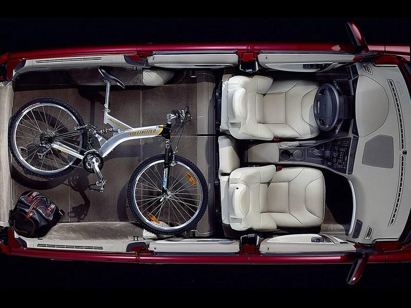Volvo V70 2001 рентген салона и багажника при сложенном заднем ряде сидений