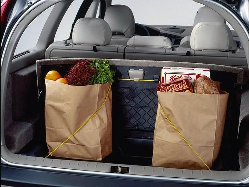 Volvo V70 2001 багажник при поднятых спинках заднего ряда сидений