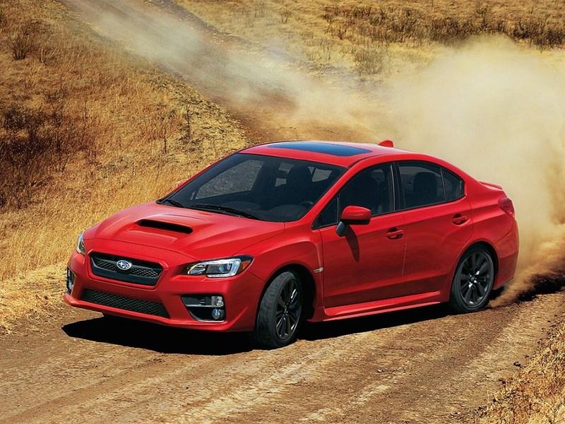 Subaru WRX 2015 вид сбоку 3/4