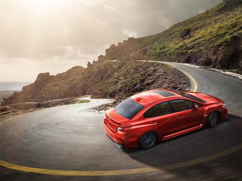 Subaru WRX 2015 вид сверху
