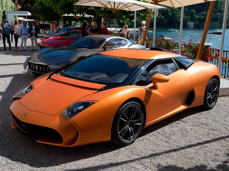 Lamborghini 5-95 Zagato 2014 вид спереди сбоку