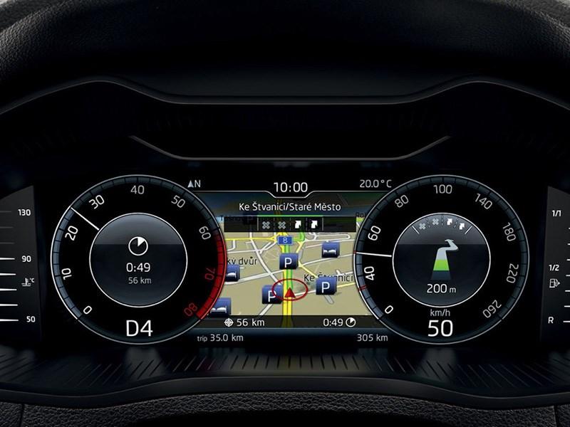 Skoda Octavia получила виртуальную приборную панель