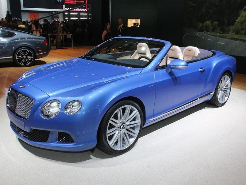 Bentley продемонстрировал новый кабриолет Continental GT Speed