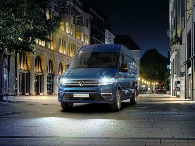 Volkswagen показал электрическую модификацию фургона Crafter