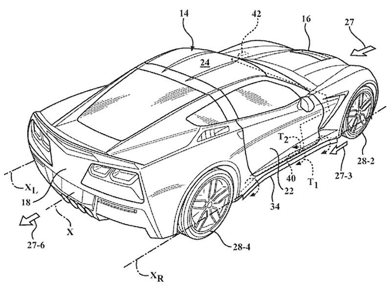 GM запатентовал активную аэродинамику Chevrolet Corvette Фото Авто Коломна
