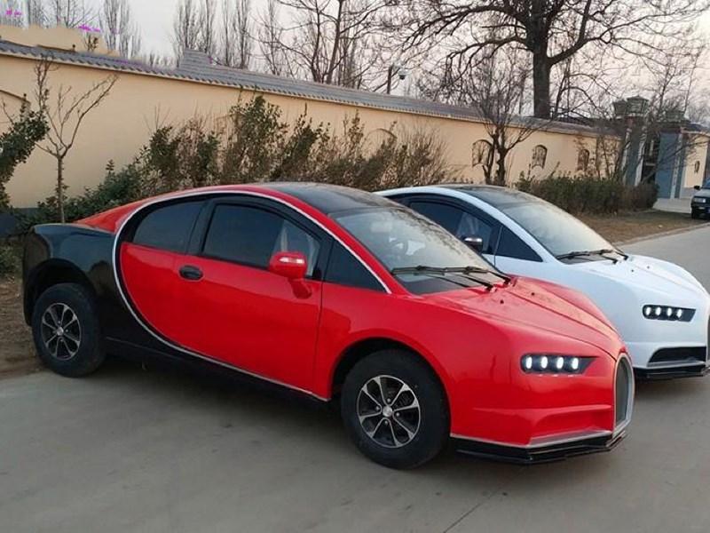 Китайцы сделали «копию» Bugatti Chiron за 5000 долларов