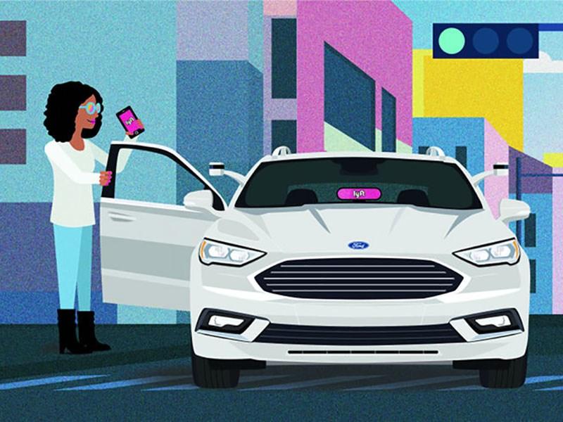 Ford будет продвигать беспилотники через сервис такси Lyft