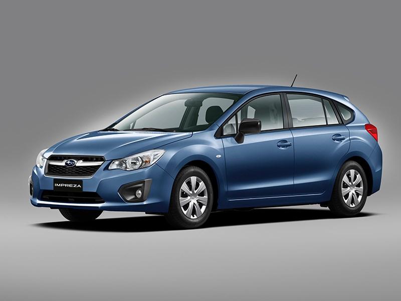 Subaru Impreza 2012 вид спереди синий