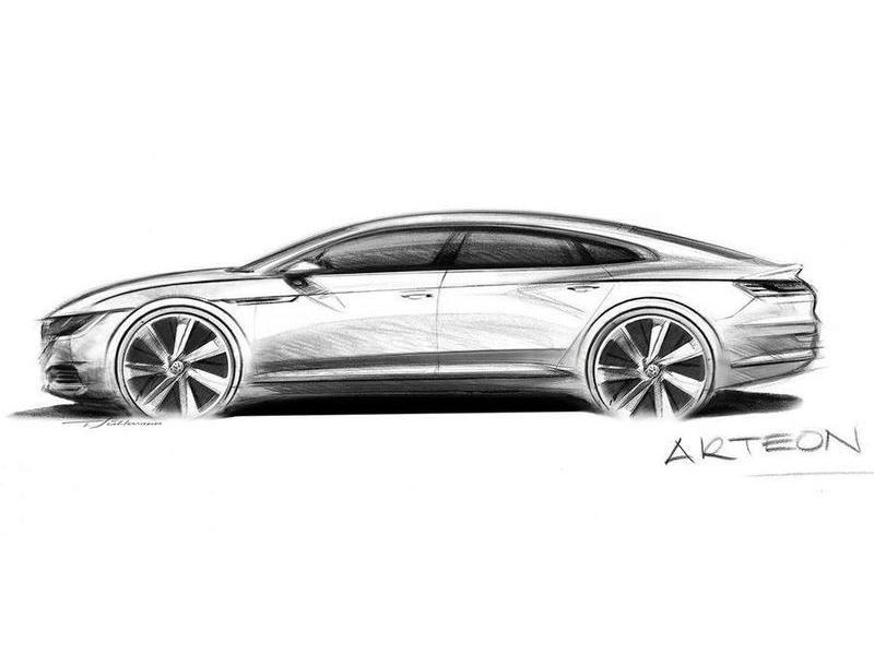 Volkswagen показал наброски преемника седана CC