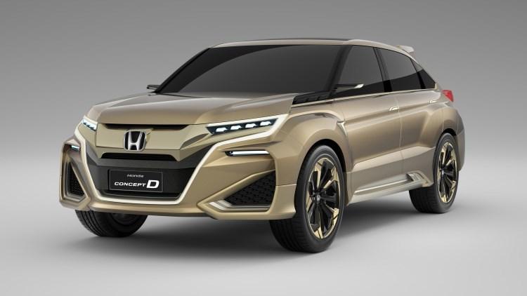 Honda начала тестирование серийного кроссовера Concept D