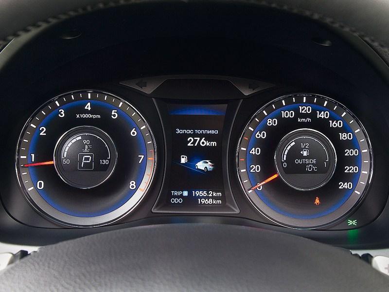 Hyundai i40 2012 приборная панель