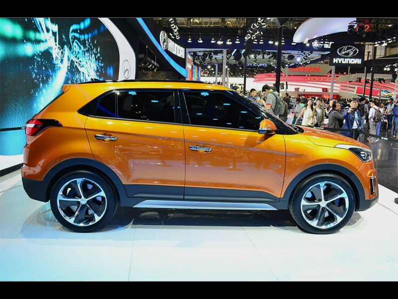 Hyundai ix25 concept 2014 вид сбоку