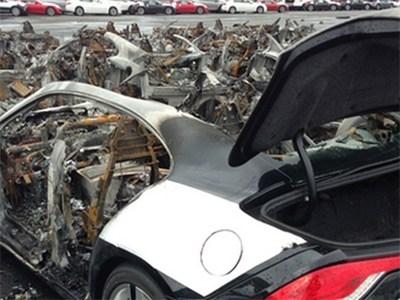 «Сэнди» уничтожил 16 роскошных гибридов Fisker