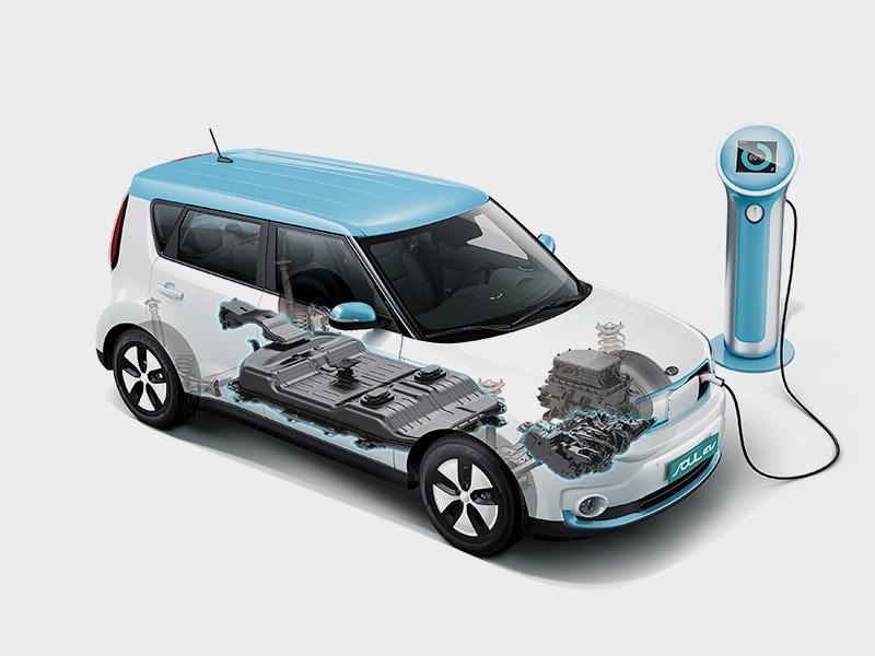 Kia Soul EV 2015 зарядка
