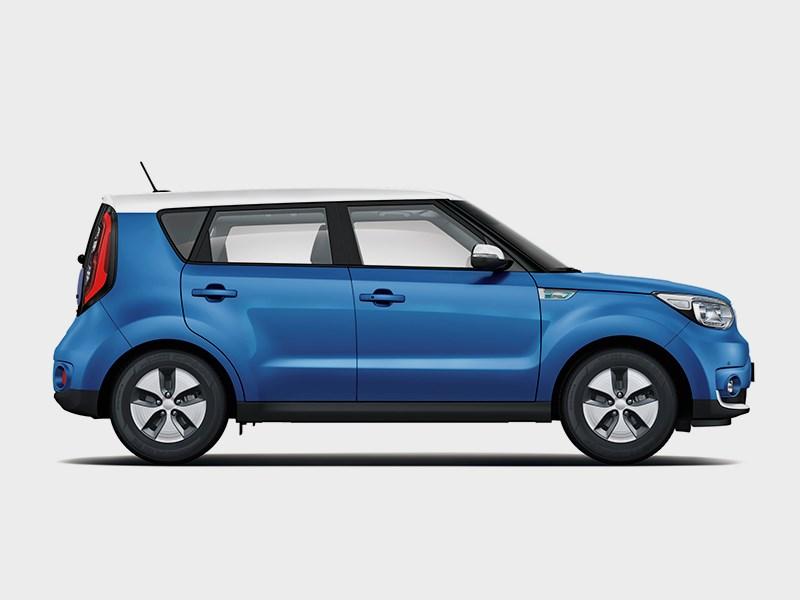 Kia Soul EV 2015 вид сбоку синий