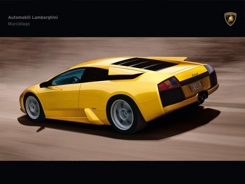Lamborghini Murcielago 2006 вид сбоку в динамике